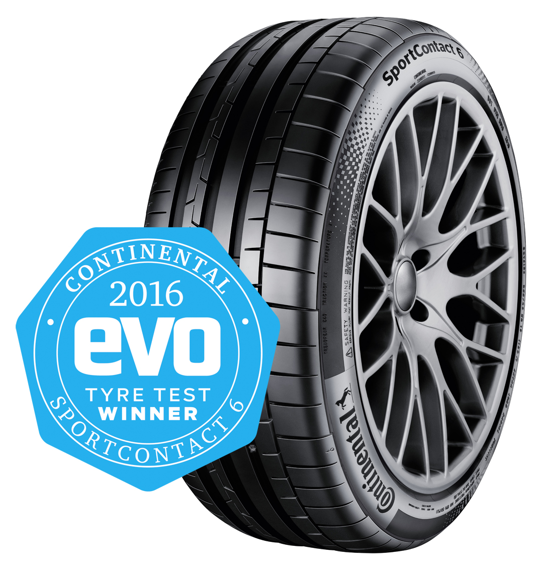 Continental SportContact 6 with Evo Winner Award Badge