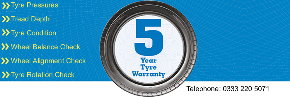 5 Year Tyre Warranty